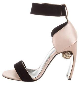 Nicholas Kirkwood Embellished Satin Sandals