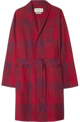 Oliver Spencer Loungewear Checked Cotton Robe