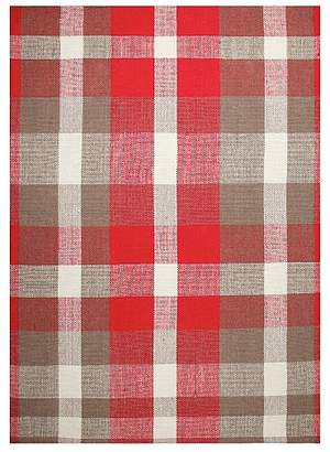 At George Asda Home Red Check Rug