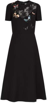 Valentino Embroidered Butterfly Dress