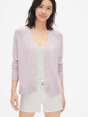 Gap V-Neck Button-Front Cardigan Sweater