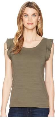 Lilla P Ruffle Sleeve Tank Top Women's Sleeveless