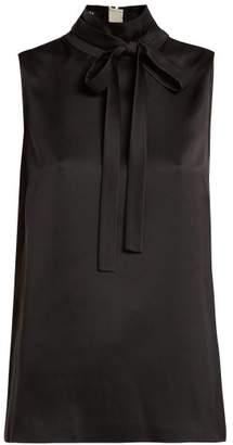 Rochas Nadiria Sleeveless Silk Satin Top - Womens - Black