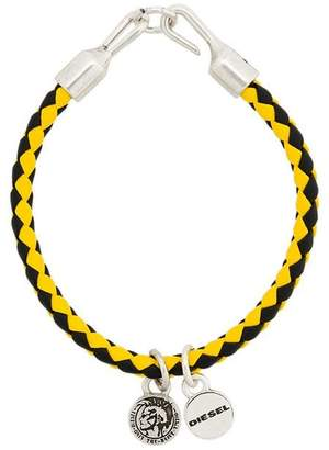 Diesel woven charm bracelet