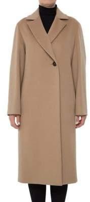 Cinzia Rocca Reefer Long Wool Coat