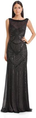 JS Collections - Bateau Neckline Beaded Long Dress 864470 $685 thestylecure.com