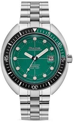 Bulova Oceanograper Green Dial Watch, 44mm