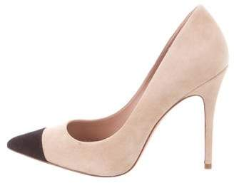 Jean-Michel Cazabat Pointed Cap-Toe Suede Pumps