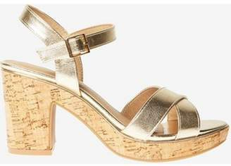 Dorothy Perkins Womens Gold 'Romy' Platform Sandals