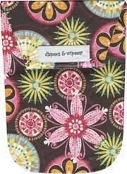 Diapees & Wipees Waterproof Carnival Bloom Baby Diaper and Wipes Bag by Diapees and Wipees