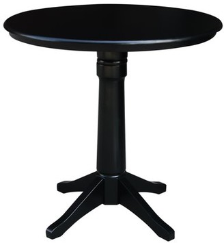 "INC International Concepts 36"" Round Top Pedestal Counter Height Table - Black"