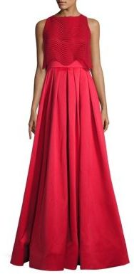 Badgley Mischka Wave Lace Popover Gown $750 thestylecure.com