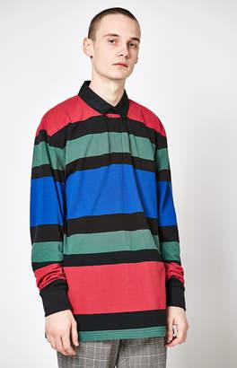 adidas Pacsun Marco Striped Long Sleeve Polo Shirt