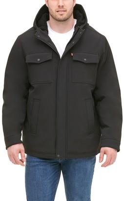 Levi's Levis Big & Tall Sherpa-Lined Softshell Trucker Jacket