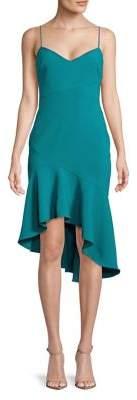 LIKELY Asymmetric Hem Sheath Dress
