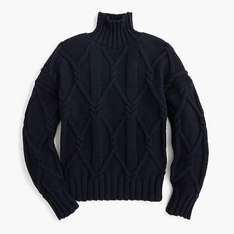 Collection cable-knit mockneck sweater