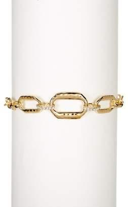 Judith Jack Gold Plated Sterling Silver Crystal Detail Chain Link Swarovski Marcasite Studded Bracelet