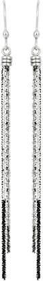 Italian Silver Tri-Color Dangle Earrings