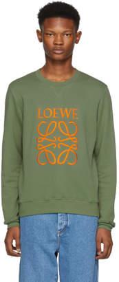 Loewe Khaki Large Anagram Sweatshirt