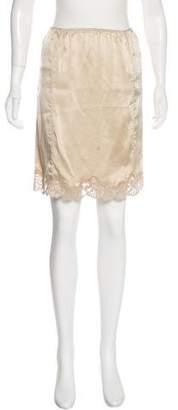 Veronique Branquinho Silk Lace-Trimmed Skirt