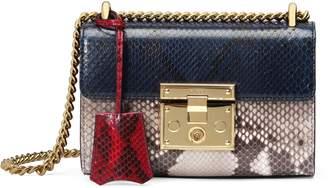 Gucci Padlock small python shoulder bag