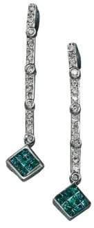Effy Black Diamond Diversa Earrings in 14 Kt. White Gold .52ct. t.w.