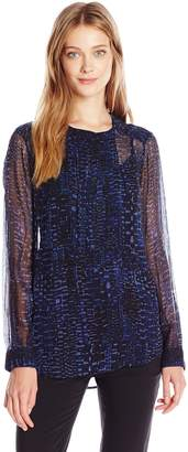Lucky Brand Women's Printed Pleated Top