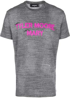 DSQUARED2 Tyler Moore Mary print T-shirt