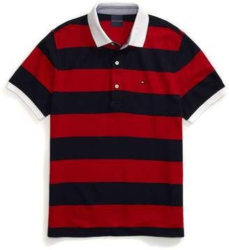 Tommy Hilfiger Custom Fit Block Stripe Performance Polo