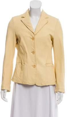 Vince Leather Notched Lapel Jacket
