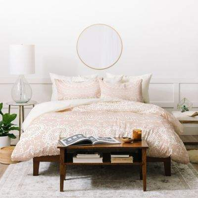 Monika Strigel Waiting For You Twin Duvet Cover Set in Rose