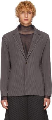 Issey Miyake Homme Plisse Grey Tailored Pleats Blazer