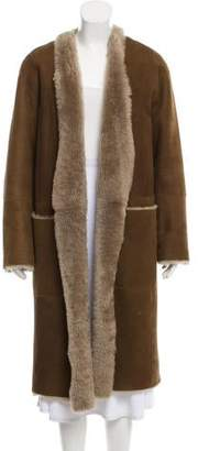 Vince Shearling Long Coat