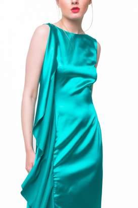 Ralph Lauren Aubert Design Satin Dress