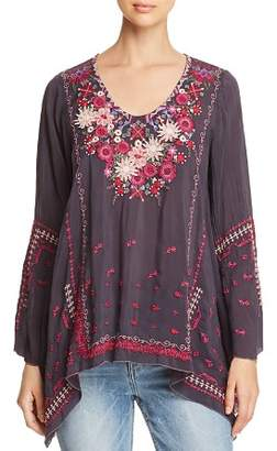 Johnny Was Wish Stitch Embroidered Tunic
