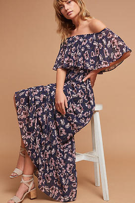 Donna Morgan Willow Off-The-Shoulder Maxi Dress $228 thestylecure.com