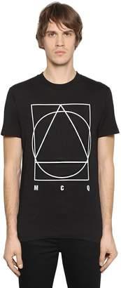 McQ Logo Printed Cotton Jersey T-Shirt