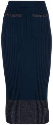 Kenzo lurex knit ribbed skirt