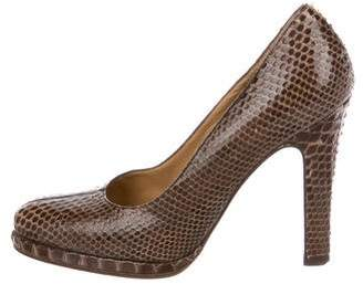 Marni Python Pointed-Toe Pumps