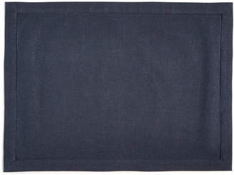 Hotel Collection Modern Navy Linen Placemat