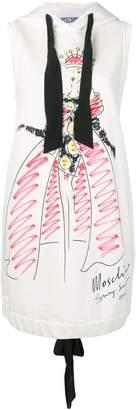 Moschino fashion sketch sweat dress