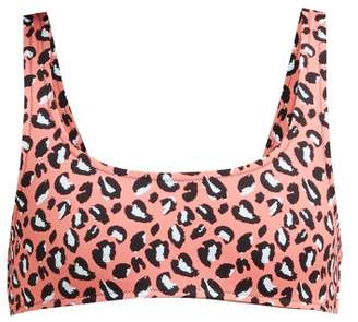 Reina Olga Rocky Leopard Print Bikini Top - Womens - Pink Multi