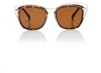 Blanc Eclare Dubai Honey Tortoise And Gold Metal With Solid Brown Lens