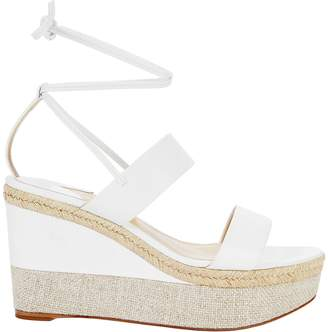 Paul Andrew Woman Crystal-embellished Suede Sandals Ivory Size 37 PAUL ANDREW MjxT7JA