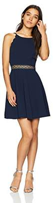Amy Byer A. Byer Junior's Young Women's Teen Scalloped Edge Fit & Flare Dress