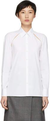 Maison Margiela White Cut-Out Shirt