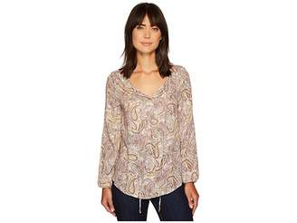 Bobeau B Collection by Rumi Tie Neck Blouse