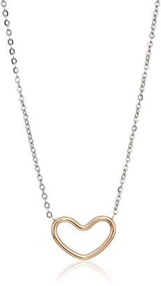 Skagen Katrine Two-Tone Heart Pendant Necklace