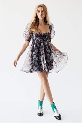 For Love & Lemons Faye Babydoll Mini Dress