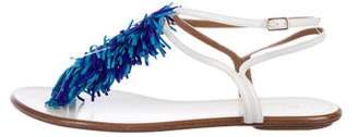 Aquazzura Leather Fringe Sandals